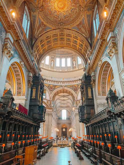 Inside St Pauls Cathedral London