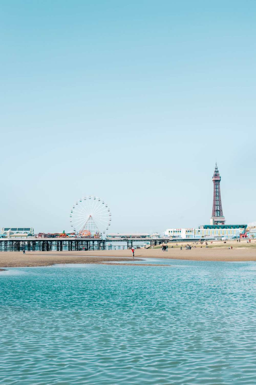 Blackpool Beach in England