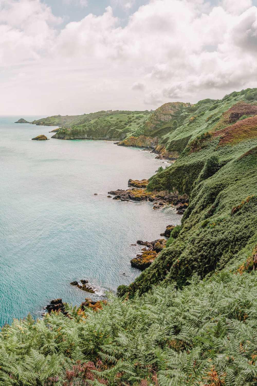Rugged coastline In Jersey