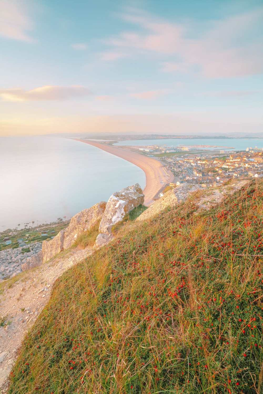 beaches in England for views