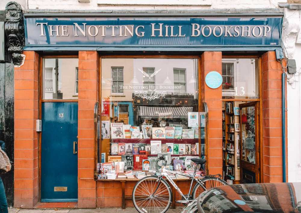 Famous bookshop from Notting Hill Film in London