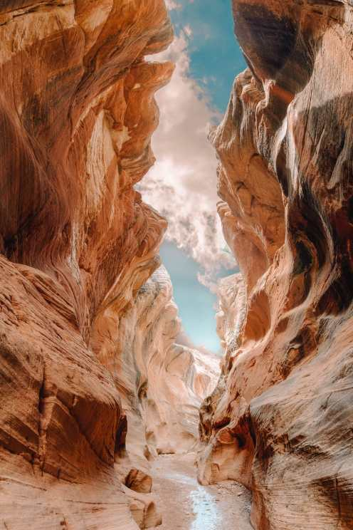 Slot Canyon In Zion National Park