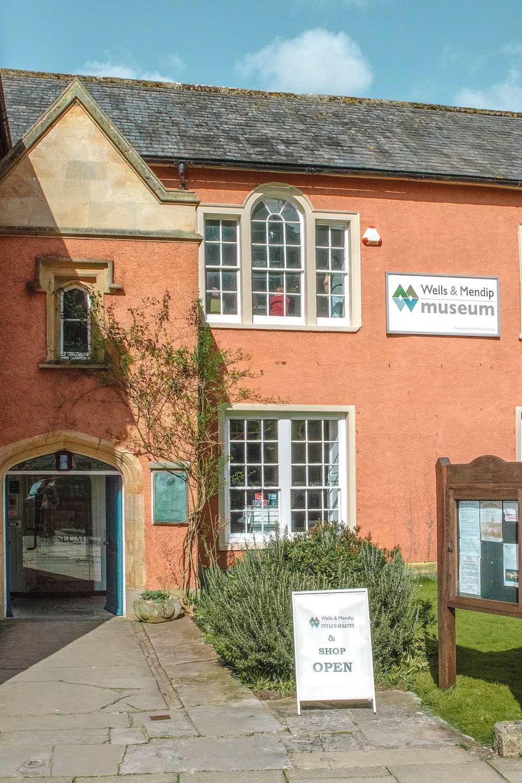 Museum in city of Wells in Somerset