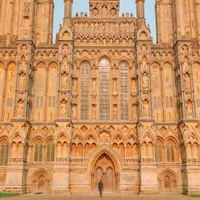 Iconic cathedral in Wells, England