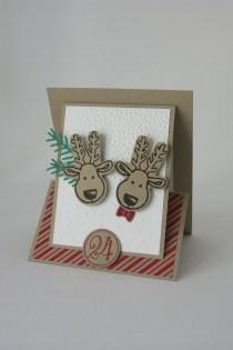 Weihnachtskarte Elch mit Gutscheinkarte