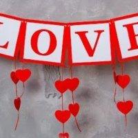 Гирлянды из сердечек ко Дню святого Валентина - МК и идеи