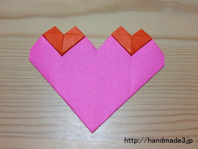 折り紙で親子ハートを折ってみた