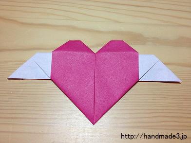折り紙で羽根つきハートを折ってみた