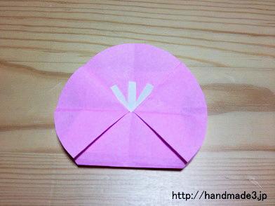 折り紙で梅の花を折った