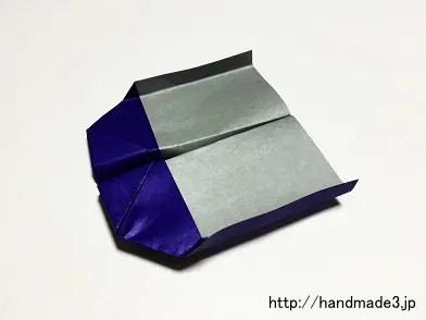 折り紙でのしいか飛行機を折った
