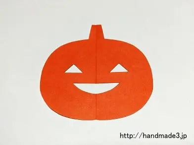 折り紙でジャック・オー・ランタンを作った