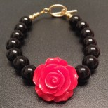 red black Flower bracelet