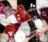 Silks - hand- sewn crazy patchwork