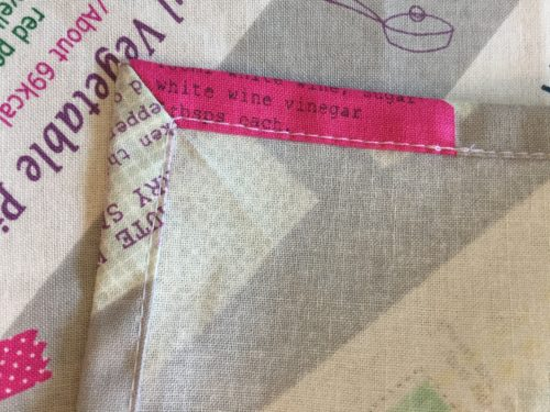 給食ナフキン(ランチョンマット)を額縁縫いで仕上げる方法