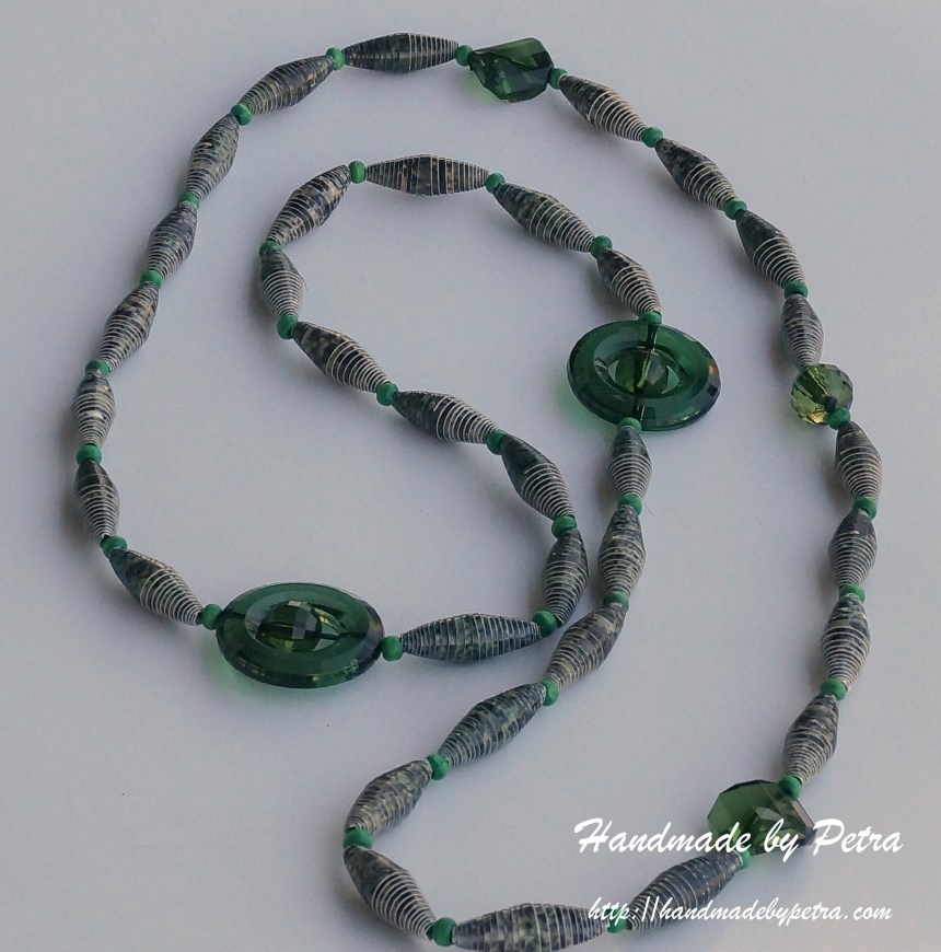 Necklace of paper beads