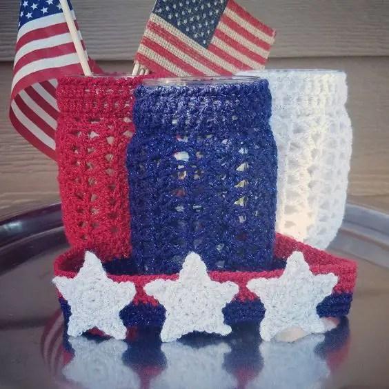 Red White Blue Crochet Projects Handmadebyraine
