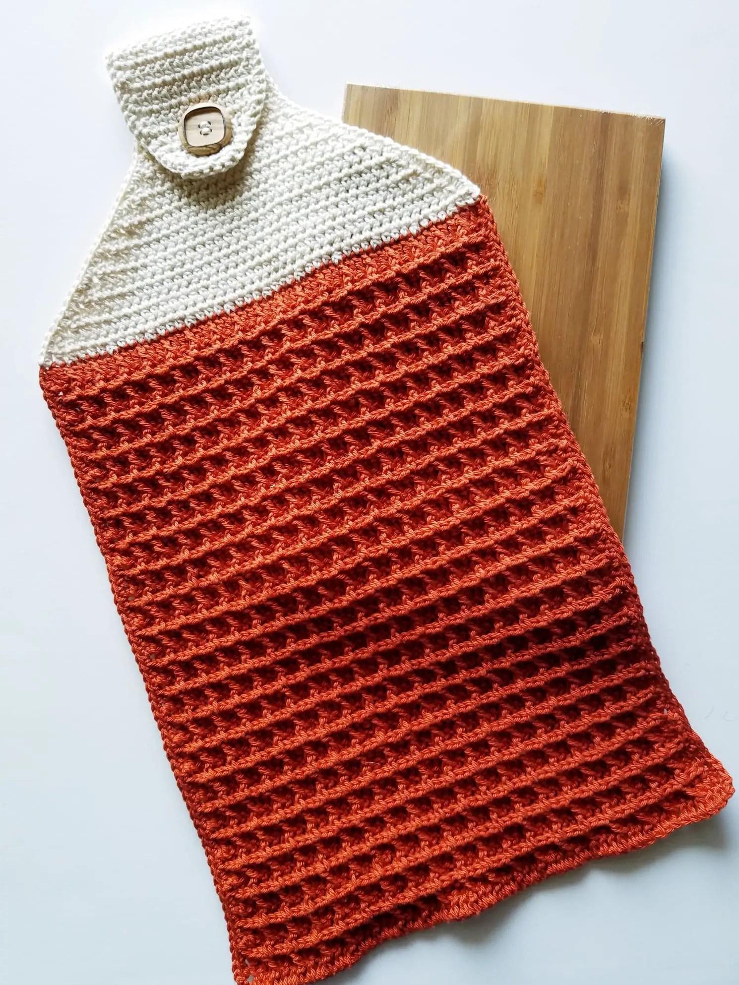 how to crochet kitchen towel