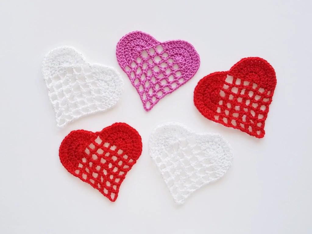 crochet Valentine coaster