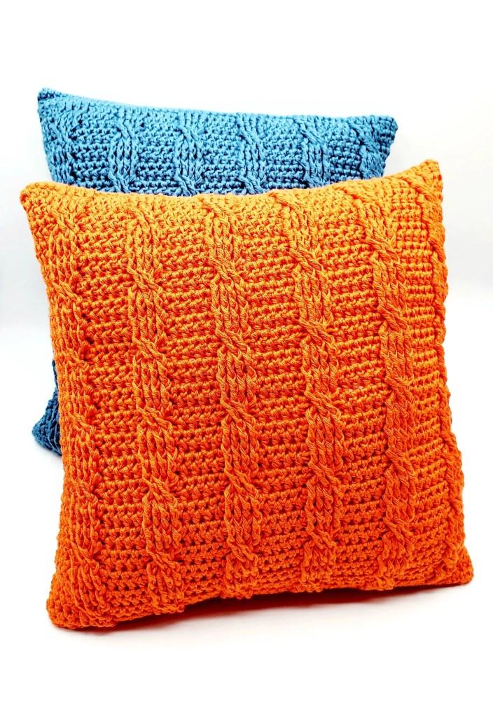crochet cable stitch pillow