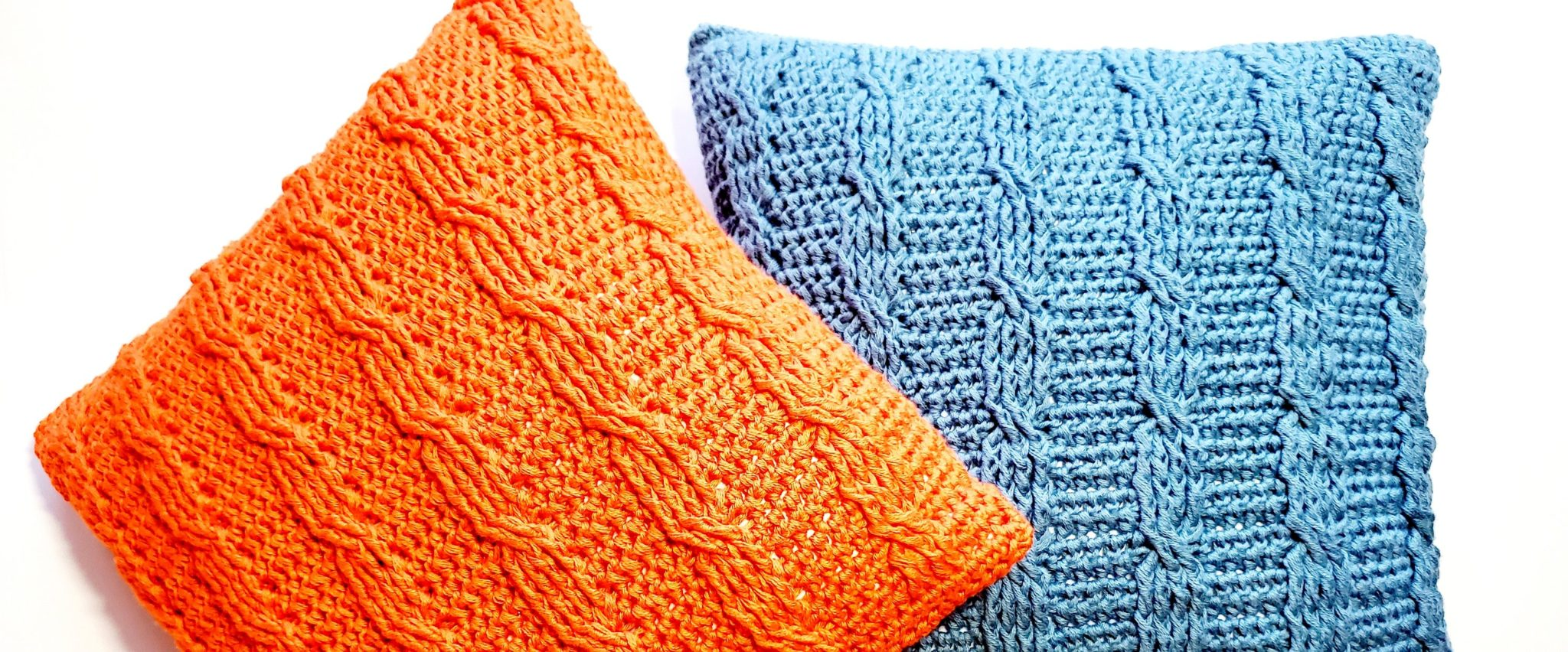 How to crochet cable stitch pillow