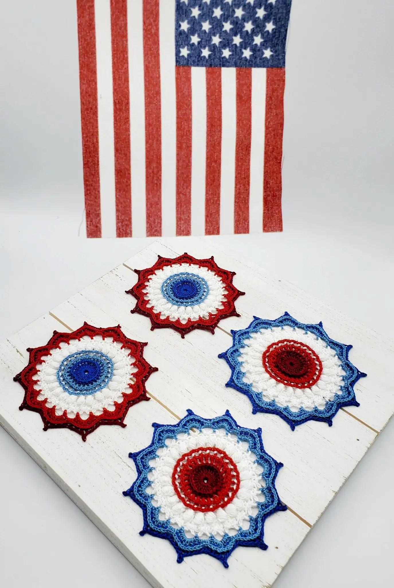 crochet american rosette