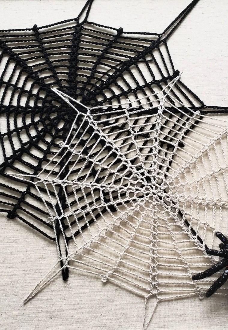 How to crochet Halloween spiderweb