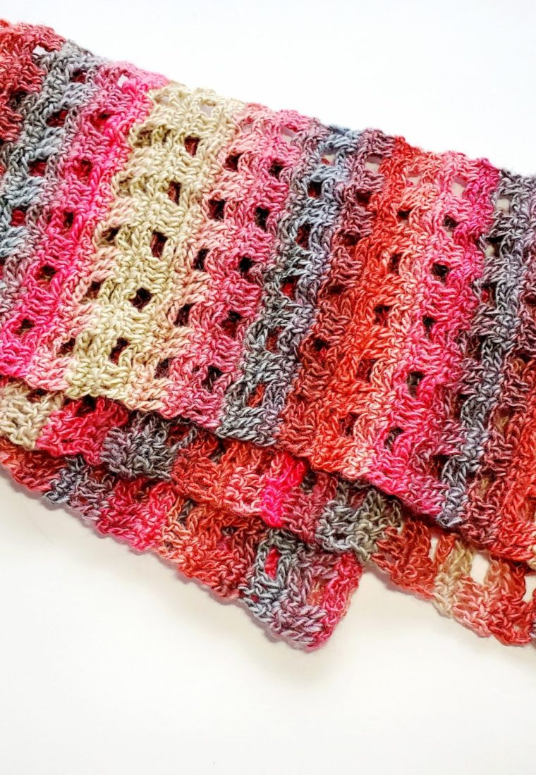 How to crochet Soft Trellis Scarf
