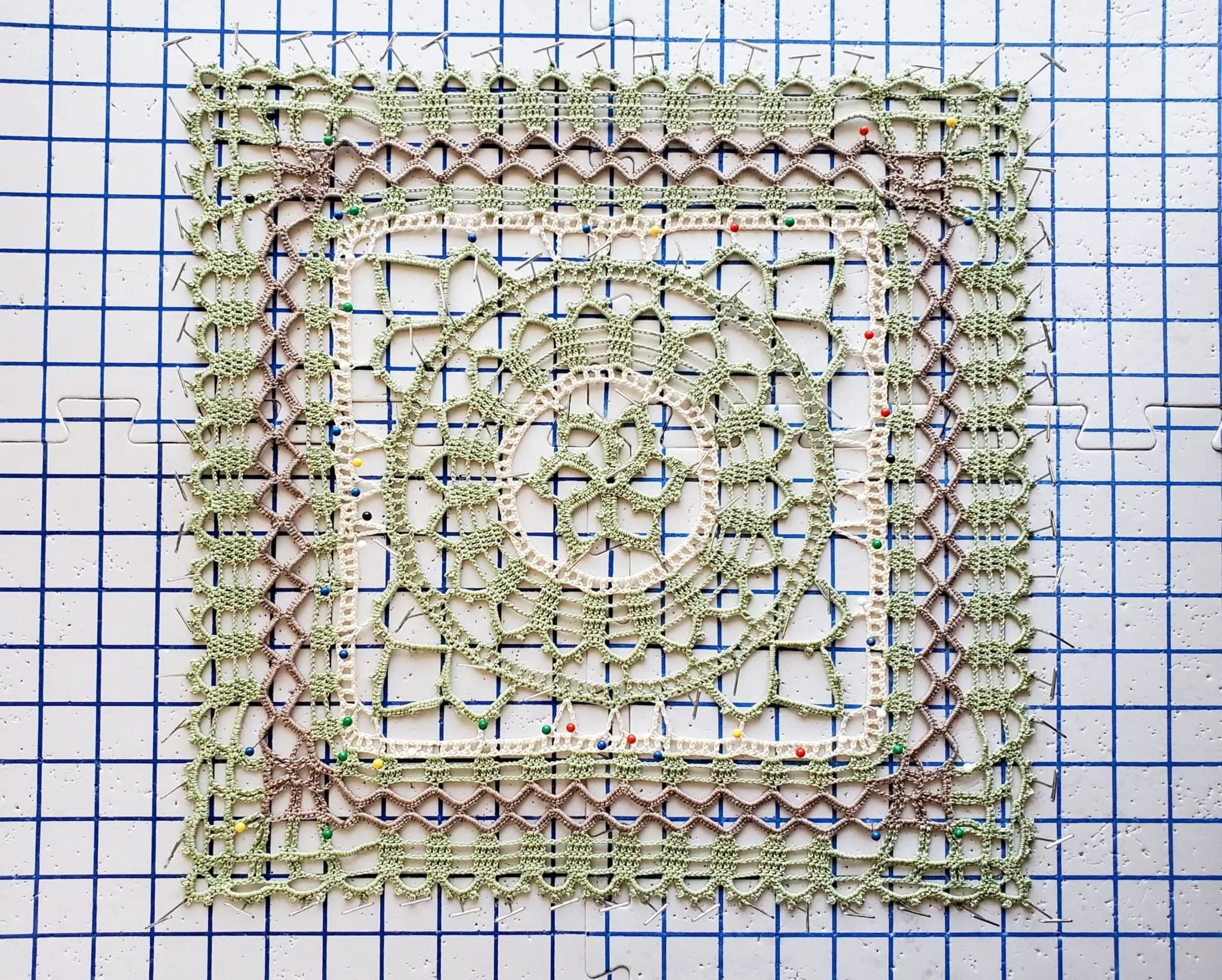 celtic square doily