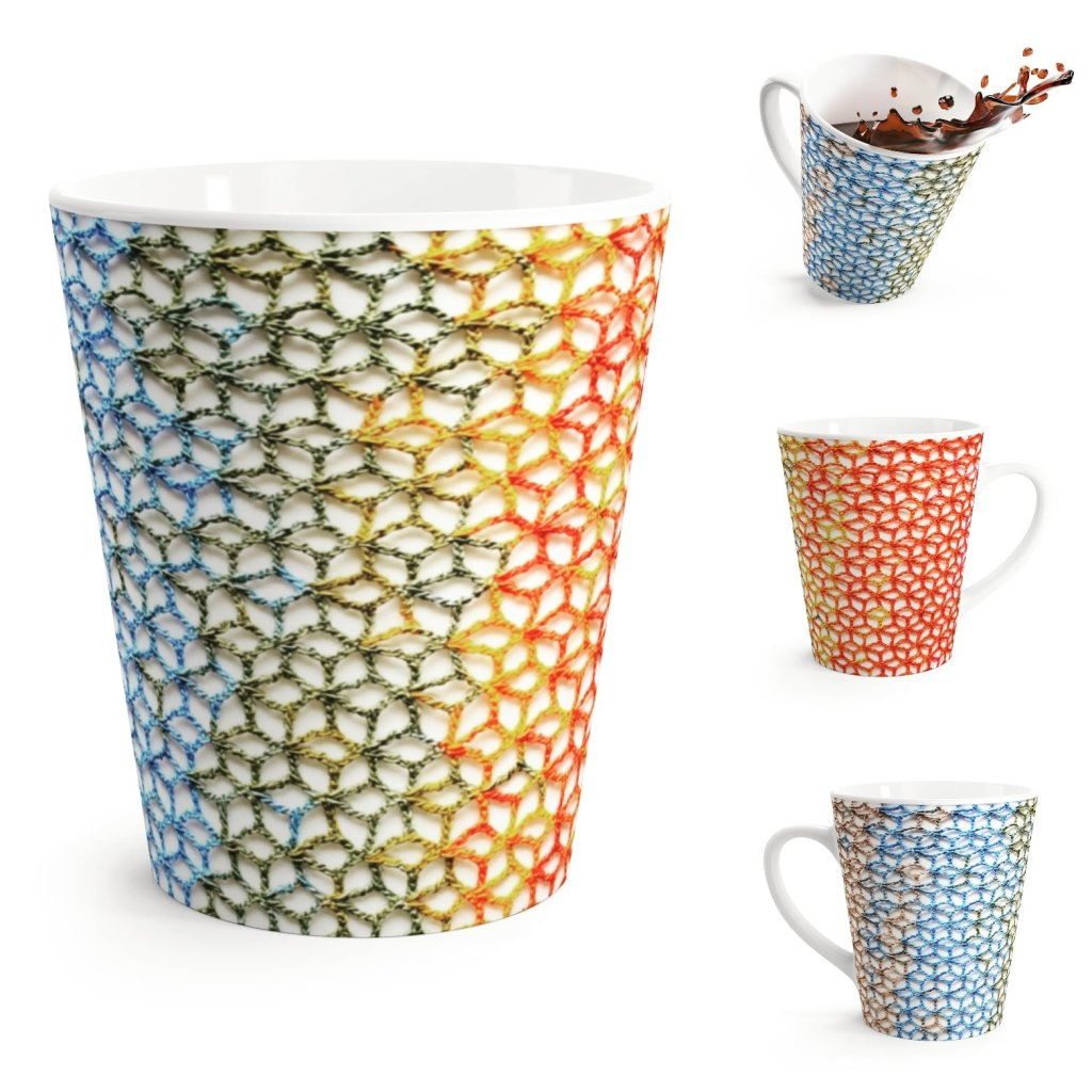 Floral Stitch Latte Mug