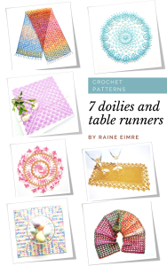 7 doilies and table runners