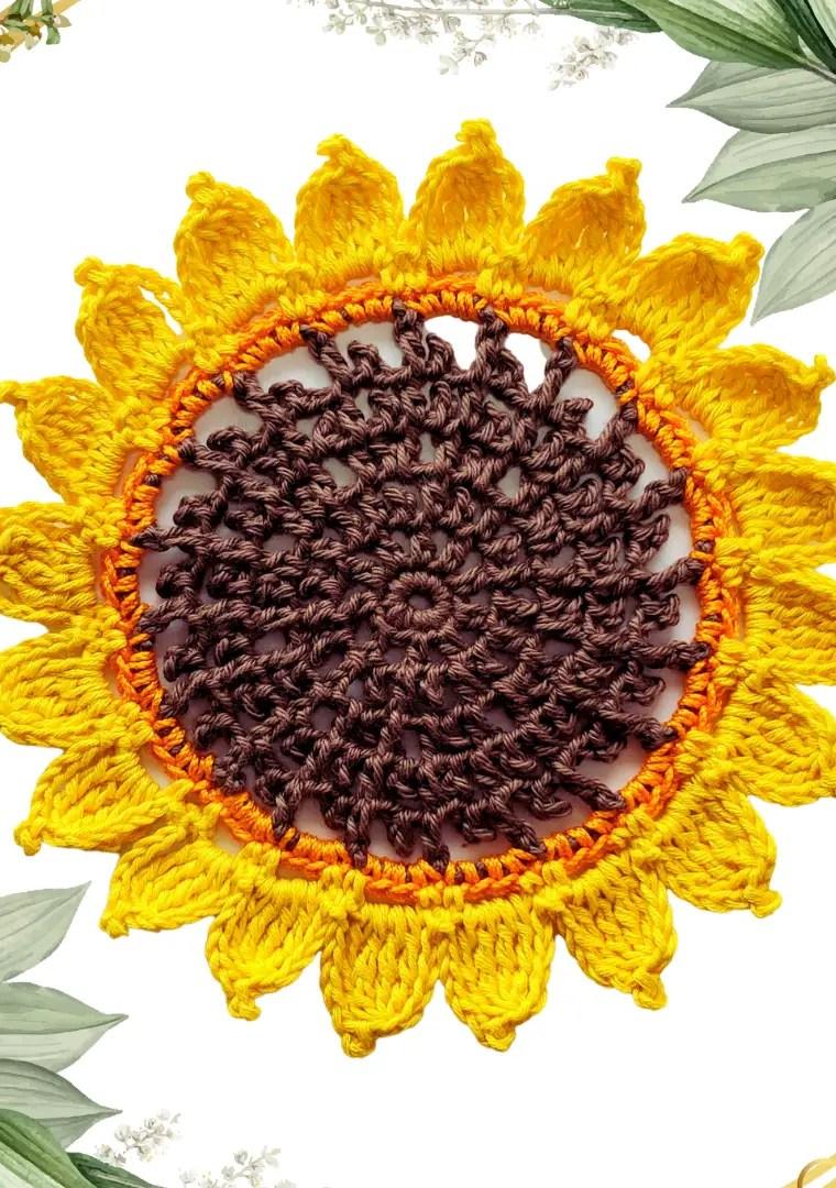 How to crochet Sunflower