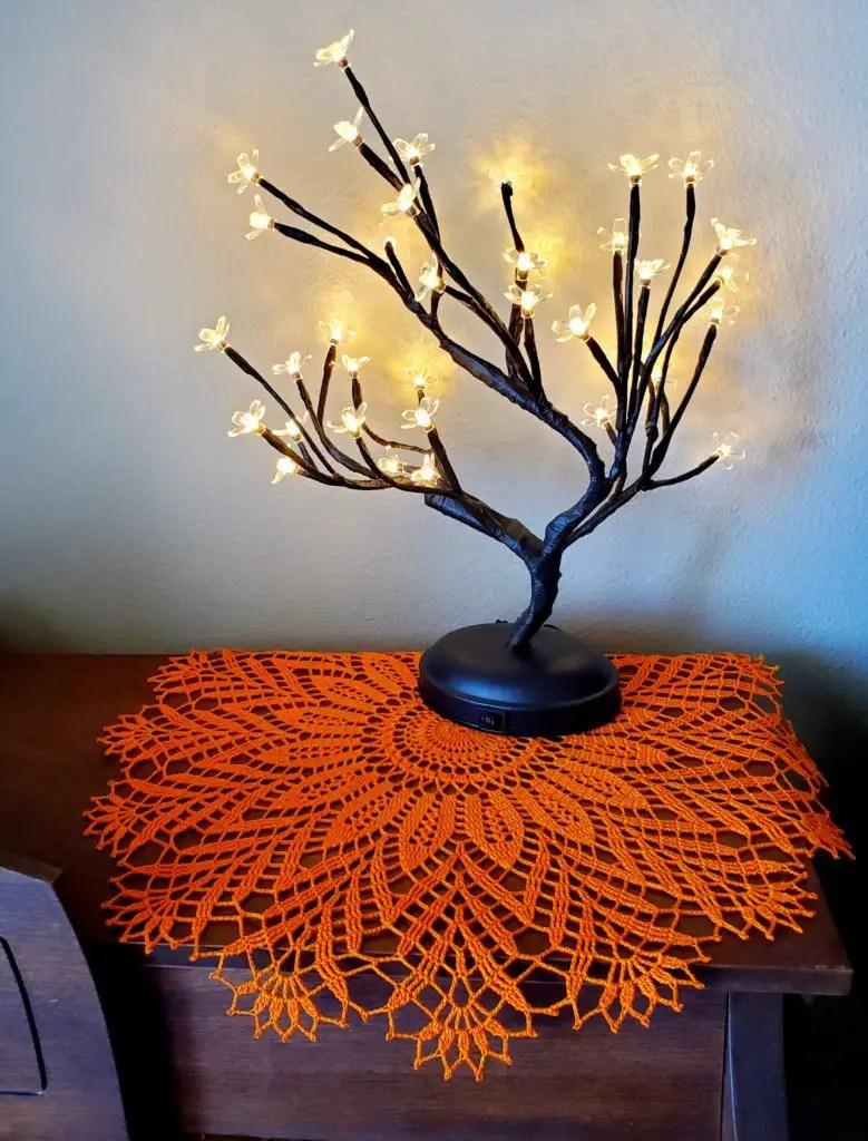 crochet harvest doily