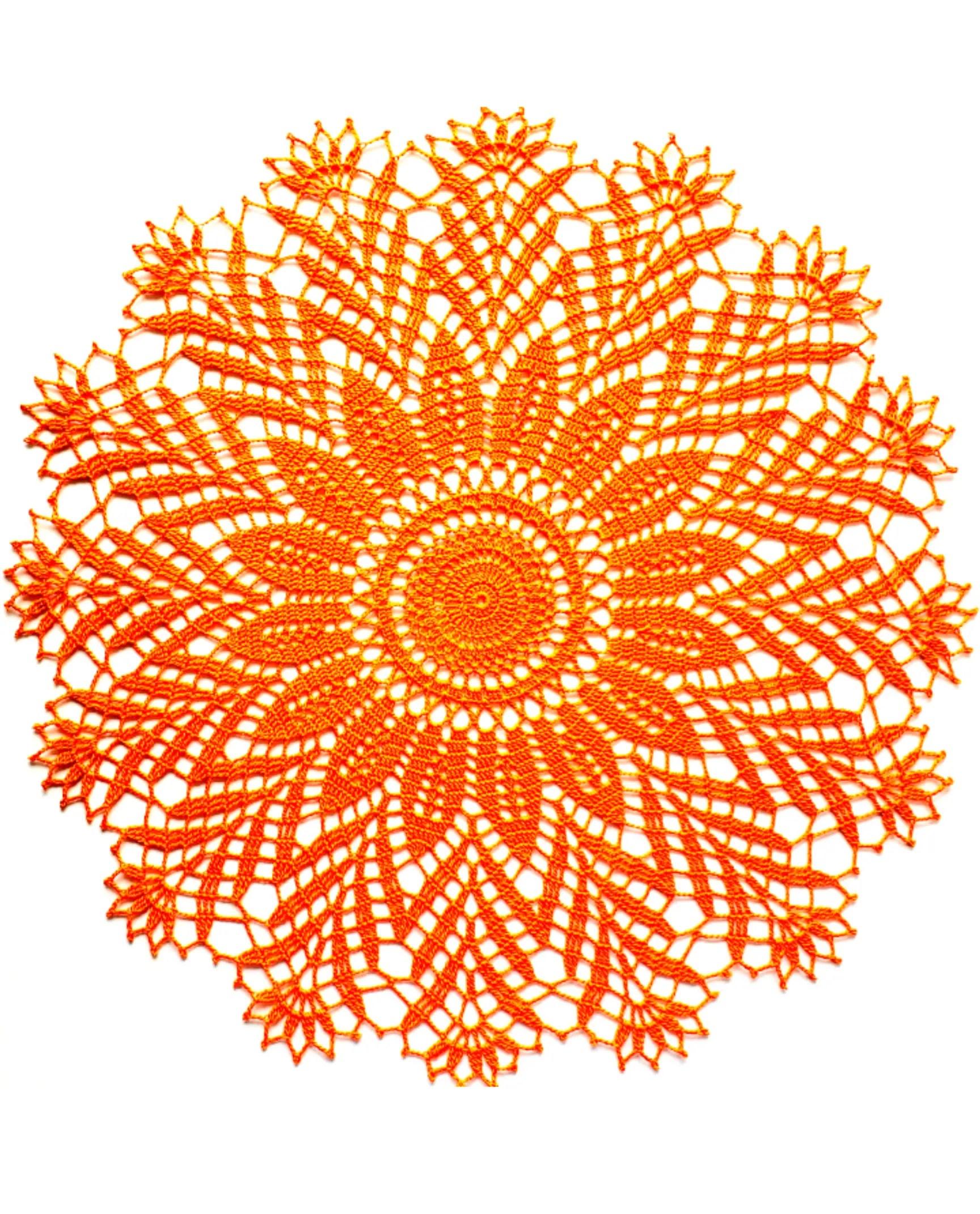 How to crochet Harvest Doily