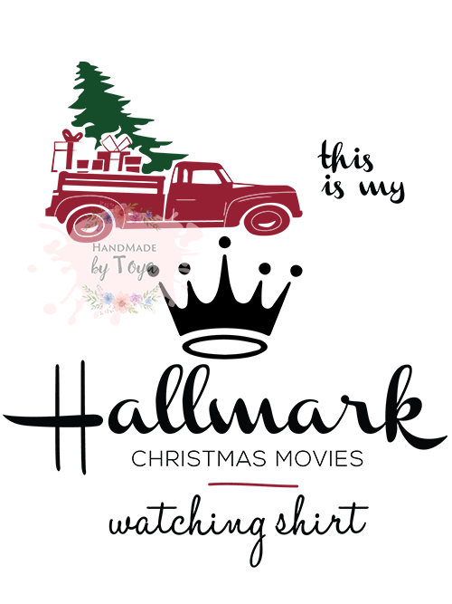 Hallmark Christmas Shirt Svg.This Is My Hallmark Christmas Movie Watching Shirt Vintage Truck Svg Png