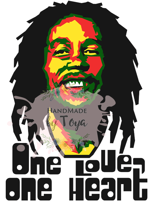 Download One Love One Heart Bob Marley SVG & PNG - Handmade by Toya