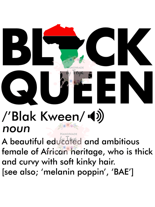 Black Queen Definition SVG, DXF & PNG (INCLUDES MOCKUP