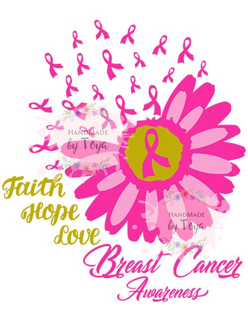 Faith Hope Love Flower Ribbon Svg Png Handmade By Toya