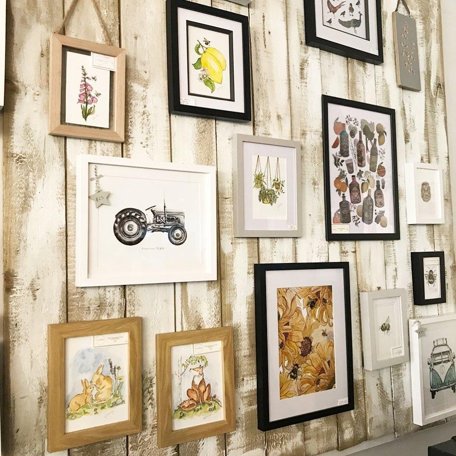 Wall Art Gallery Wall Including Original Art and Art Prints