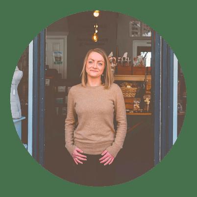 Laura Cooper Owner of Handmade Design in Ashbourne