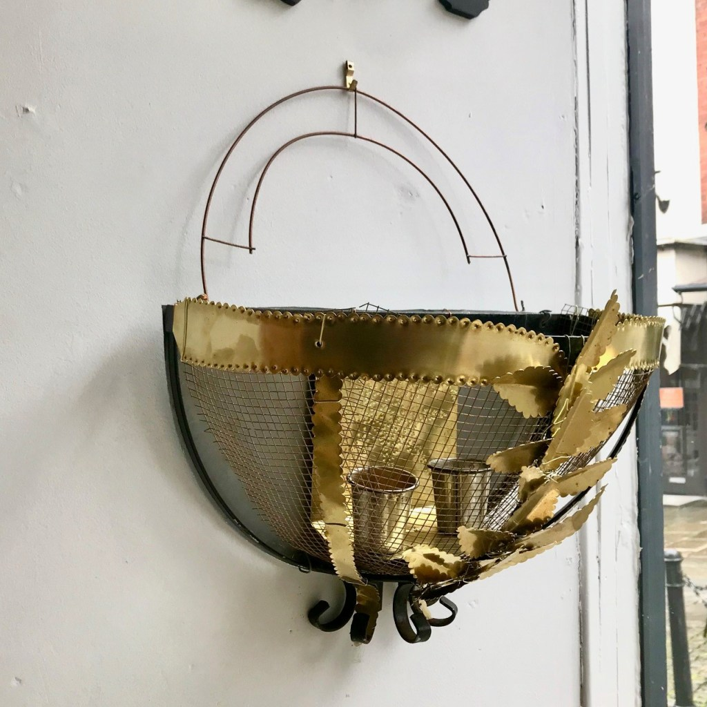 Money for Nothing Sarah Moore Hanging Basket Brass Sconce