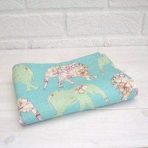 Elephant Linen Tea Towel