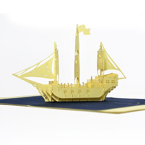 sailing popup card model