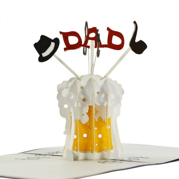 3D popup greeting card for father