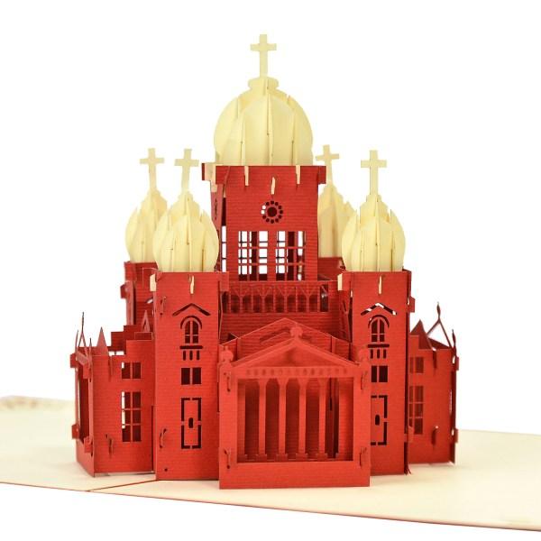3D church model popup card