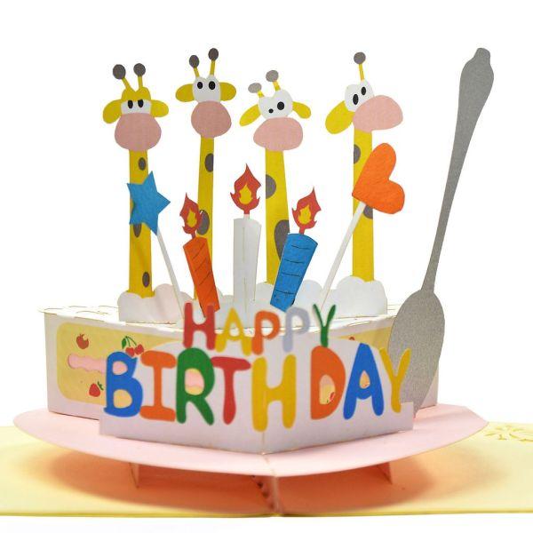3D Birthday pop up card