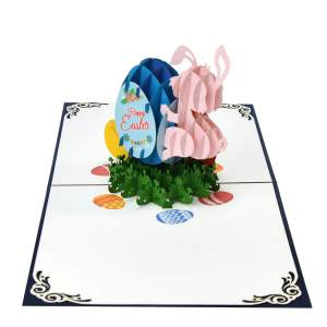 3D bunny and Eggs pop up card