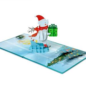 3D pop-up greeting card for Christmas