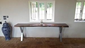 American Walnut console table, Suffolk