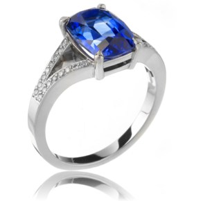 "Tanzanite ""Split-Shank"" Ring"