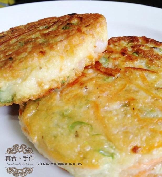 (無添加食譜分享)豆漿食譜及豆渣的利用~蝦仁蔬菜豆餅食譜
